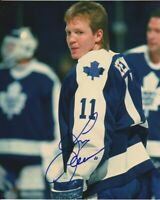 VINTAGE GARY LEEMAN SIGNED TORONTO MAPLE LEAFS 8x10 PHOTO! Autograph PROOF!