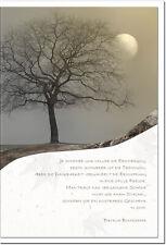 Trauerkarte ERINNERUNG | Baum im Mondlicht | metALUm # 3300020