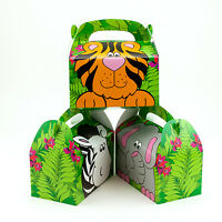 12pk Zoo Animal Treat Gift Boxes Birthday WEDDING Favor SHOWER Loot Boxes