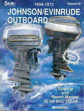 Work Shop Manual Johnson Evinrude Outboard Motors 50hp thru 125hp 1958 to 1972
