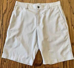 Adidas Climalite Golf Shorts Grey Size 32
