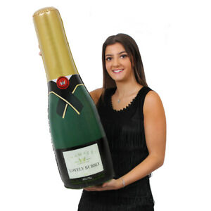 INFLATABLE CELEBRATION CHAMPAGNE BOTTLE BLOW UP WEDDING PARTY DECORATION GIANT