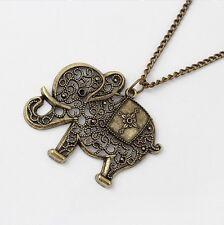 Collier pendentif éléphant doré IDÉE CADEAU NOËL