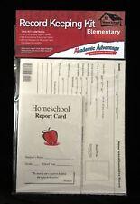 Homeschool Record Keeping Kit, Elementary, Use w. ABeka, BJU, Apologia, Grades