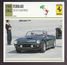 1960 1961 1962 Ferrari 250 GT California Italy Car Photo Spec Sheet Info CARD