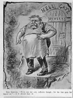 BREWERY BOSS BREWER HELL GATE BREWERY VINTAGE 1895 ENGRAVING BY THOMAS NAST