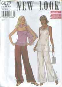 NL 6077 sewing pattern Glamour TOPS Scarf PANTS sizes 8,10,12,14,16,18 sew UNCUT