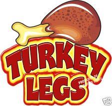 "Turkey Legs 14"" Decal Concession Food Truck Cart Menu Sign Vinyl"