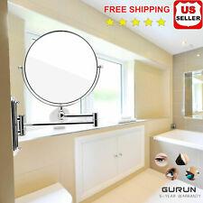 Gurun 10X Magnification Extending Makeup Mirror Vanity Wall Mount Shaving Hotel