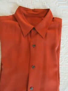 Tommy Bahama Men's Long Sleeve Silk Wool Blend Red Size Large