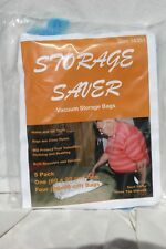 ATAI, Storage Saver vacuum storage bags, 5pack, clear bags, 1(60x80cm)&4(50x60)