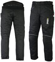 CE Armours Waterproof Motorbike Motorcycle Trousers Pants Textile Cordura BLACK