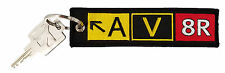 AV8R Taxiway Sign Keychain. Aviation Pilot Gifts & Accessories. Aviator keychain