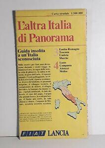 Carta stradale L'altra Italia Panorama - Centro Italia - 1:500000 - vintage 1982