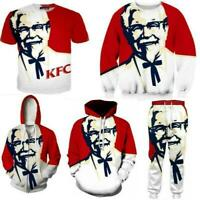 KFC Grandfather Men/Women 3D Print Casual Tshirt/Sweatshirt/Hoodies K32