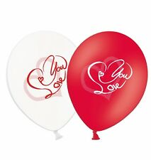 """Love You 11"""" Script Red & White Mix Latex Balloons 25 ct  - by Party Decor"""