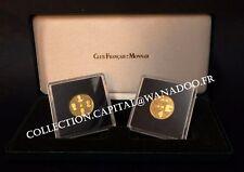 De Gaulle coffret BE 2 Médailles Or 585°/oo Un Homme ...un Destin, 2 certificats