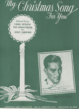 "New ListingSheet Music: (Christmas) ""My Christmas Song For You"" Hoagy Carmichael 1944"