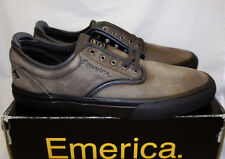 Emerica x Pendleton Wino G6 Dark Grey Leather Slip-On Mens 11 Suede Skate Shoes
