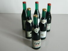 Dolls House Miniature 1/12th Scale Set of 6 Red Wine Bottles D405