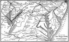 Map 1900 West Virginia Central and Pittsburg Railroad