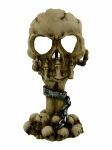 Nemesis Deliberation Tealight Holder - Skull  Gothic Wicca Pagan Figurine Candle