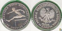 POLONIA - POLSKA. 200 ZLOTYCH DE 1984. PLATA 0.750.