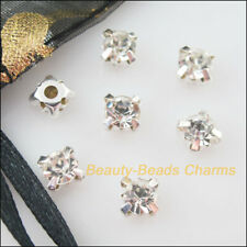 15 New Silver Plated Bottom Loose Crystal Handmade Sew on Claw Rhinestone 8mm