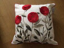 Next Red Eden Floral 100% Cotton Cushion - 50cmx50cm - BNWT