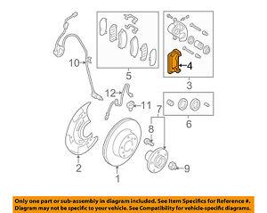 SUBARU OEM Outback Brake-Front-Disc Caliper Support Bracket Right 26225AG120