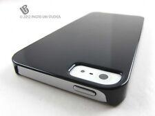 BLACK HARD ULTRA SLIM SNAP-ON CASE COVER APPLE IPHONE 5 5S SE