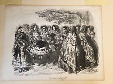 GUSTAVE DORE Lithograph, Les Lionnes et Leur Petits, 1854