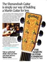 "1989 Martin Shenandoah Model Acoustic Guitar photo ""Affordable"" promo print ad"