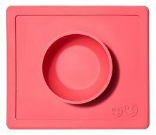 ezpz Happy Mat - One-piece silicone placemat + plate Coral Coral - Free Ship