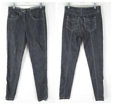 Bebe Womens Dark Wash Side Zip Skinny Jeans Size 2