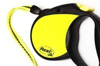 Flexi Neon Reflective Cord & Tape Retractable Dog Leads 3 & 5M
