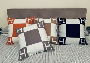Turkish Cashmere H Blanket/Throw/Cushions/Pillows. Fast Hermes Delivery.