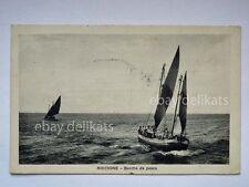 RICCIONE barche pesca pescatori barca vela mare Rimini vecchia cartolina