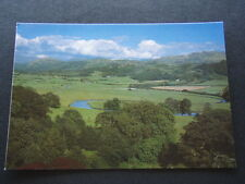 VIEW OF ESK VALLEY FROM MUNCASTER CASTLE WEST CUMBRIA POSTCARD