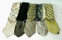 Men's Assorted Green/Beige Dress Neck Ties Lot of 10 #1008 Designer Brands SILK