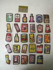 Vintage 1974 TOPPS WACKY PACKAGES 9th SERIES complete set TAN BACK 32/32