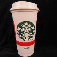 Starbucks Reusable 16 Oz Plastic Cup/Lid Grande Holiday Tumbler Christmas Joy