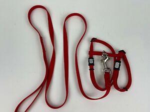 Cat It Adjustable Cat Harness + Leash (44'')  Red