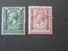 BECHUANALAND PROTECTORATE, SCOTT # 102/103(2),1925-27 KGV OVPT GB ISSUE MH