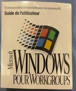 Windows For Workgroups Software New Sealed Never Used *** French ***