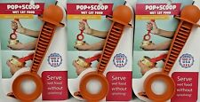 Pop + Scoop Cat Food Can Opener and Server Spoon As Seen On Tv Item made in Usa
