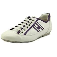 Hogan Flat (0 to 1/2 in.) Leather Athletic Shoes for Women