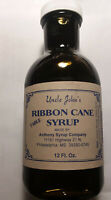Natural Syrup Made in Miss. Ribbon Cane in a 12 Fluid Oz Glass Bottle
