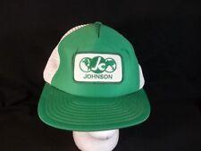 Vintage Johnson Global Company Cap Hat trucker Mesh Snapback Sportcap