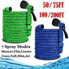 More details for expandable 50 - 200 foot garden hose spray gun flexible expanding stretch pipes